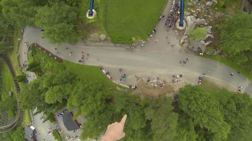Der nede er Andreas! Slik ser det ut fra Spinspider-perspektiv!